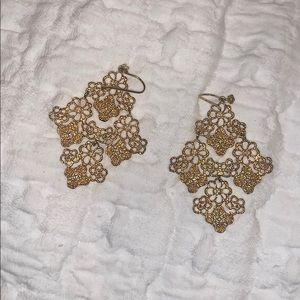 Stella & Dot Gold Earrings